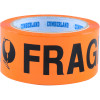 CUMBERLAND WARNING TAPE 48Mm X 66M Fragile Orange Black Pack Of 6