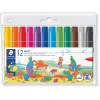 Staedtler Noris Jumbo Colouring Markers Assorted Wallet of 12