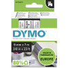 Dymo D1 Label Cassette Tape 9mmx7m Black on Clear