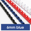 REXEL BINDING COMB 6mm 25 Sheet Capacity  Blue Pack of 100