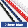 REXEL BINDING COMB 10mm 65 Sheet Capacity  Blue Pack of 100
