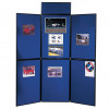 Nobo Portable Display Board 6 Panels 900x600mm Blue