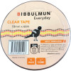 BIBBULMUN OFFICE STICKY TAPE 18mm X 66m Clear