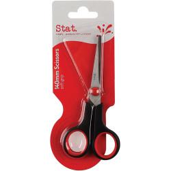 Stat Scissors Soft Grip 140mm Black & Red