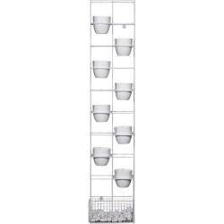 Rapid Bloom Vertical Garden 1935Hx390Wx210mmD includes 8 Pots and Polished Stones White