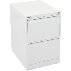 GO 2 DRAWER FILING CABINET H730mm x W460mm x D620mm White