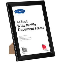 Carven Document Frame Wide Profile A4 Black