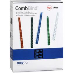 GBC PLASTIC BINDING COMB 16mm 21 Ring 150 Sheets Capacity Blue Pack of 100