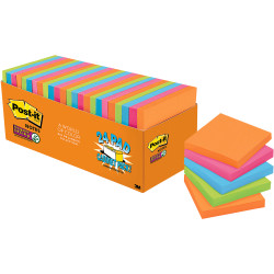 POST IT NOTES 654-24SSAU SUPER Sticky 76x76mm Jewel Pop Cabinet Pack of 24