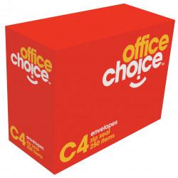 OFFICE CHOICE C4 ENVELOPES 324x229 StripSeal White 100g Box of 250