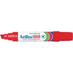 ARTLINE 100 PERMANENT MARKER Chisel Red