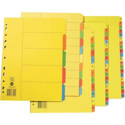 Marbig Manilla Divider A4 1-12 Tab Bright Colours