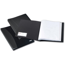 REXEL SOFT TOUCH DISPLAY BOOK A4 Smooth 36 Pockets Black