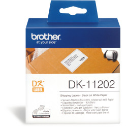 BROTHER DK-11202 SHIPPING NAME Badge Label 62X100mm White Box of 300