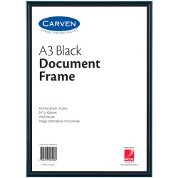 CARVEN DOCUMENT FRAME A3 Wall Mountable Black