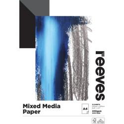 REEVES MIXED MEDIA PAD A5 200GSM 15 Sheets