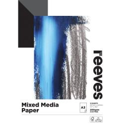 REEVES MIXED MEDIA PAD A3 200GSM 15 Sheets