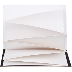 Zart Display Journals Fold Out Pages 13x19cm 250gsm Paper Black Cover Pack of 10